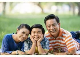 格林公园的亚洲家庭_5577247
