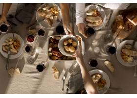 美味的感恩节大餐俯瞰_9465273