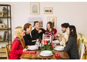 餐桌上的圣诞晚餐_1400601