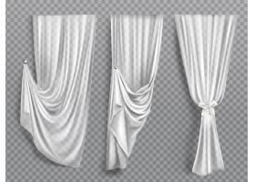 透明背景上的白色窗帘_7101581