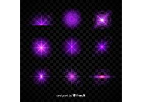 透明背景上的紫光效果集合_5792070