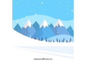 雪道和山脉的景观背景_968656