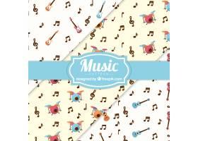 音符和乐器图案背景_1138267
