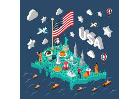 美国等轴测地图_4188673