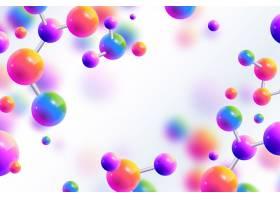色彩斑斓的现实原子与科学背景_7706176