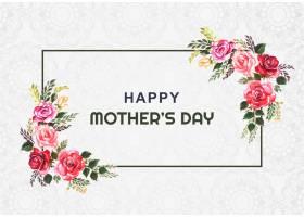 母亲节快乐花框卡片背景_7887668