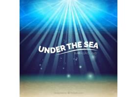 在阳光灿烂的背景下的海底_893859