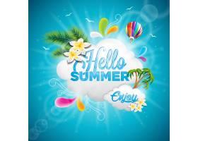 夏季背景设计_1028217