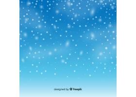 天空背景中逼真的飘落雪花_3505726