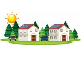 太阳能电池在家中如何工作的示意图_6831776