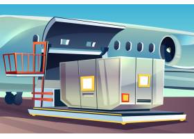 航空货运物流飞机货运装车插图_3519537