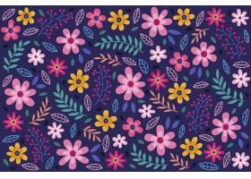 花卉无缝图案雏菊背景_5903452