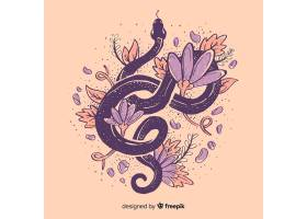 花团锦簇的手绘蛇_4510395