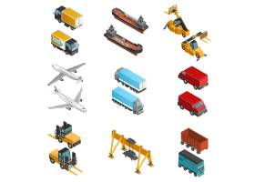 货物运输等轴测图标集_3797271