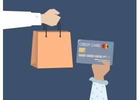 购物者使用信用卡付款的插图_2610825