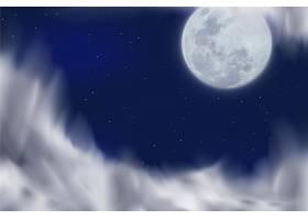 逼真的愚人月亮背景_6743728