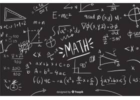 逼真的数学黑板背景_4412904