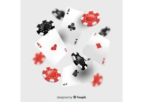 逼真的赌场筹码和纸牌_4471693