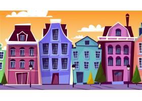 阿姆斯特丹城市景观插图阿姆斯特丹的卡通_2890866