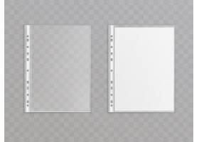 隔离在透明背景上的3D逼真半透明打孔口袋_3090558