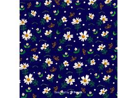 雏菊装饰背景水彩画风格_5031146