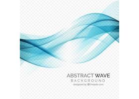 抽象风格的波浪背景_1110355