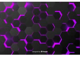 抽象黑色纹理背景六边形_5418649