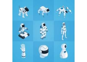 机器人等轴测图标集_4300550