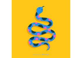 扁平的五颜六色的蛇背景_4136595