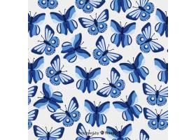 扁平蝴蝶图案_4050818