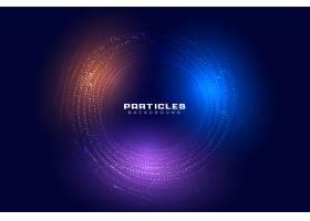 抽象圆形粒子数字未来主义背景设计_8776651