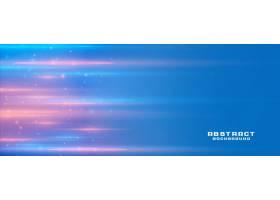 带有浅色条纹和文本空间的蓝色横幅背景_6286506