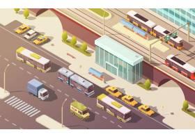 带自行车小汽车公交车和有轨电车符号的_3997940