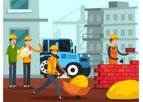 建筑工人人物平面海报_4330603