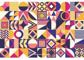 彩色几何形状镶嵌背景_4906447