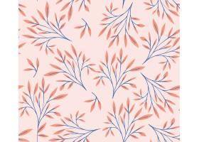 彩色树叶自然图案背景_4952741