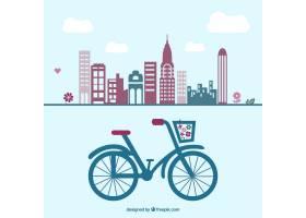 复古自行车图形_714800