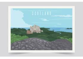 多彩的苏格兰风景背景_5822530