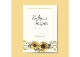 婚礼邀请卡模型矢量_3416483