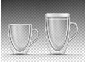 带有两面墙的空玻璃杯插图用于存放饮料_9753508