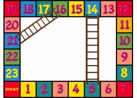 带有五颜六色的积木和梯子的棋盘游戏设计_1378631