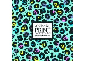 带有动物污渍的彩色抽象背景_864688