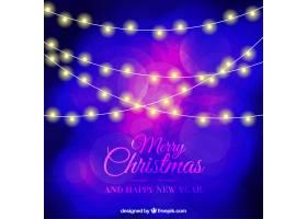 带有圣诞彩灯的抽象背景_989024