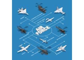 军用空军等距流程图虚线与轰炸机巡航导弹_4330483