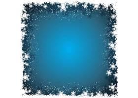 冬天的背景边界上有雪花_824476