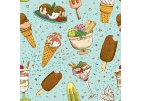 冰淇淋无缝背景图案_4559816