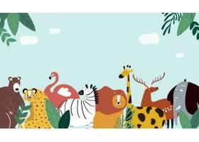 动物主题模板矢量插图_3780565