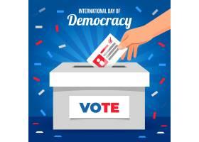 国际民主日背景平面设计_9262957