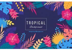 可爱的热带背景平面设计_2729514