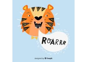 可爱的老虎背景_3491308